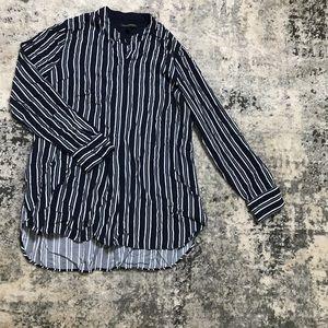 L - Women's BANANA REPUBLIC Striped Long Tunic